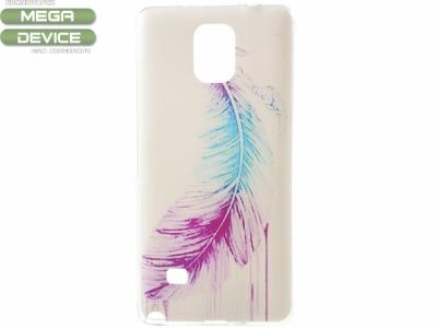 СИЛИКОНОВ ПРОТЕКТОР 0.6мм ЗА SAMSUNG GALAXY NOTE 4 SM-N910 - Colorized Feather