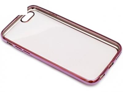 ПРОЗРАЧЕН СИЛИКОНОВ ПРОТЕКТОР С ЛАЙСНА ЗА iPhone 6 4.7-inch - Cyclamen