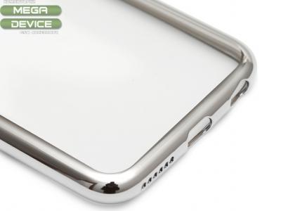 ПРОЗРАЧЕН СИЛИКОНОВ ПРОТЕКТОР С ЛАЙСНА ЗА iPhone 6 4.7-inch - Silver