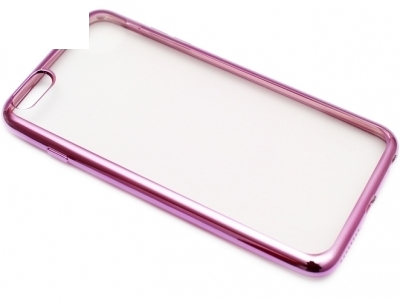 TRANSPARENT SILICONЕ PROTECTOR WITH ЛАЙСНА FOR iPhone 6 PLUS 5.5-inch - Cyclamen