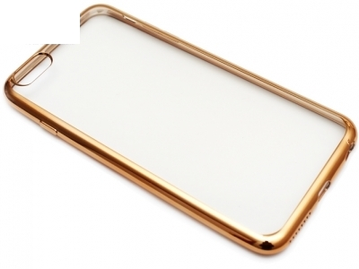 TRANSPARENT SILICONЕ PROTECTOR WITH ЛАЙСНА FOR iPhone 6 Plus 5.5-inch - Gold