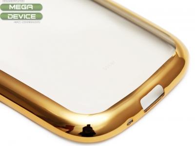 ПРОЗРАЧЕН СИЛИКОНОВ ПРОТЕКТОР С ЛАЙСНА ЗА SAMSUNG GALAXY S3 / S3 NEO i9300 i9301 - Gold