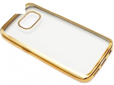 ПРОЗРАЧЕН СИЛИКОНОВ ПРОТЕКТОР С ЛАЙСНА ЗА SAMSUNG GALAXY S7 SM-G930 - Gold