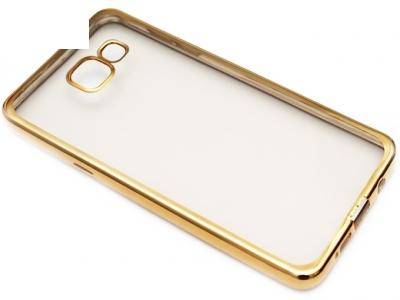 ПРОЗРАЧЕН СИЛИКОНОВ ПРОТЕКТОР С ЛАЙСНА ЗА SAMSUNG GALAXY A5 (2016) SM-A510F - Gold