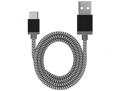 USB - type C КАБЕЛ 1м - Black / White