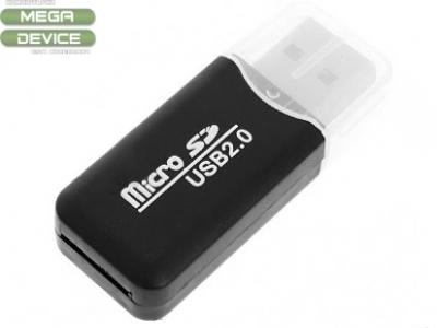 MicroSD Card Reader USB - Black