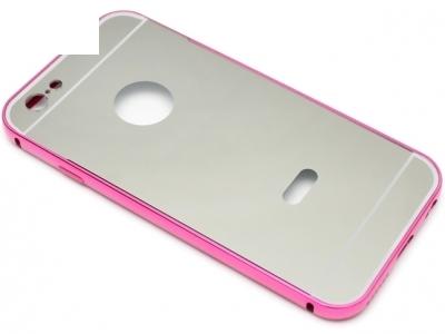 ГЛАНЦИРАН PVC ПРОТЕКТОР ЗА iPhone 6 4.7-inch - Silver / Pink