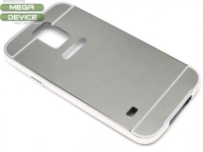 ГЛАНЦИРАН PVC ПРОТЕКТОР ЗА SAMSUNG GALAXY S5 / S5 NEO G900F - Silver