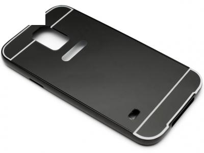 ГЛАНЦИРАН PVC ПРОТЕКТОР ЗА SAMSUNG GALAXY S5 / S5 NEO G900F - Black