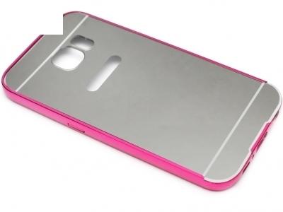ГЛАНЦИРАН PVC ПРОТЕКТОР ЗА SAMSUNG GALAXY S6 SM-G920 - Silver / Pink