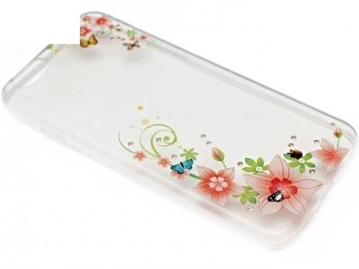 УЛТРА ТЪНЪК ПРОЗРАЧЕН СИЛИКОНОВ ГРЪБ ЗА iPhone 6 4.7-inch - Flowers
