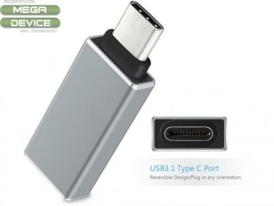 OTG ПРЕХОДНИК USB 3.0 КЪМ USB 3.1 TYPE C - MICRO USB OTG ЗА ТЕЛЕФОН / ТАБЛЕТ / ЛАПТОП - Silver