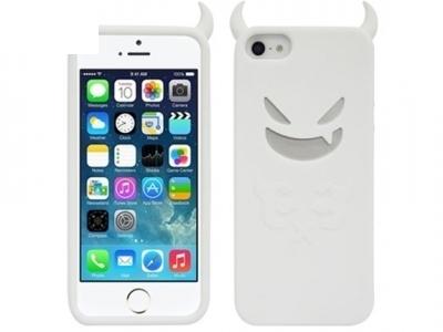 СИЛИКОНОВ ПРОТЕКТОР ДЯВОЛЧЕ ЗА iPhone SE 5s 5 - White