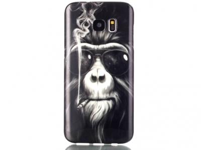 СИЛИКОНОВ ПРОТЕКТОР ЗА SAMSUNG GALAXY S7 SM-G930 - Smoking Monkey