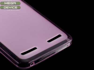 ПРОЗИРАЩ СИЛИКОНОВ ПРОТЕКТОР ЗА LENOVO VIBE K5 / K5 PLUS - Pink Transparent