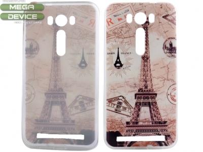 СИЛИКОНОВ ПРОТЕКТОР 0.6ММ ЗА ASUS ZENFONE 2 LASER ZE550KL ZE551KL - Paris Eiffel Tower