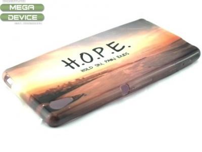 СИЛИКОНОВ ПРОТЕКТОР ЗА SONY XPERIA M4 AQUA / DUAL SIM E2303 E2306 E2353 E2312 E2333 Hope Hold On Pain Ends