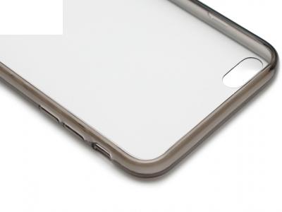 ПРОЗИРАЩ СИЛИКОНОВ ПРОТЕКТОР CASE HYBRID PRO ЗА iPhone 6 Plus 5.5-inch - Black Transparent
