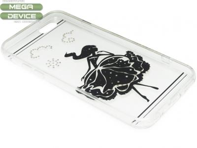 ПРОЗРАЧЕН СИЛИКОНОВ ПРОТЕКТОР С КАМЪНИ ЗА iPhone 6 4.7-inch - Girl