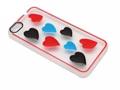 Калъф Гръб Силикон - D5 iPhone 5 / 5S / 5SE Сърце