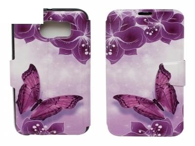 Калъф Тефтер Странично Отваряне 1105 - Samsung Galaxy S6 G920 Пеперуда