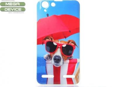 УЛТРА ТЪНЪК СИЛИКОНОВ ПРОТЕКТОР ЗА LENOVO VIBE K5 / K5 PLUS - Cool Dog Wearing Glasses