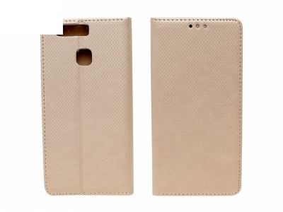 Тефтер странично отваряне - Smart Case Book Huawei P9 (EVA-L09) - Златен