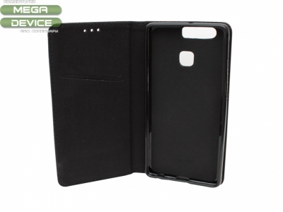 Калъф тефтер Smart Book за Huawei P9 2016 (EVA-L09) , Черен