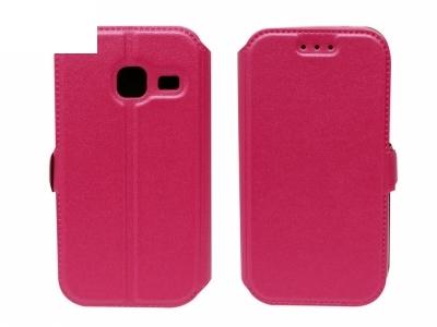 Тефтер странично отваряне - BOOK POCKET Samsung Galaxy J1 Mini (J105H) - Розов