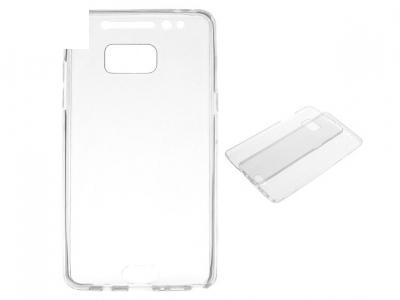 Преден и заден силиконов протектор за Samsung Galaxy Note7 2016 N930 - Сив