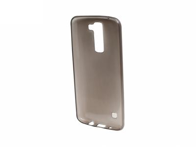 Силиконов гръб за LG K7 2016 (X210) , Черен/ Прозрачен