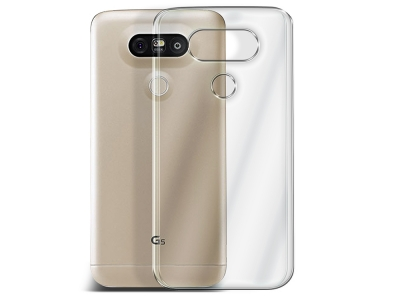 Силиконов гръб за LG G5 2016, Черен / Прозрачен