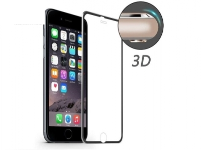 HAT PRINCE 0.2mm 9H Hardness 3D Curved Aluminum Alloy Tempered Glass Screen Film for iPhone 6s/6 - Black