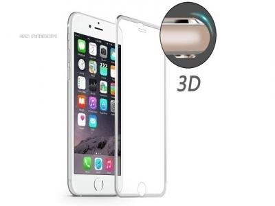 ИЗВИТ СТЪКЛЕН УДАРОУСТОЙЧИВ СКРИЙН ПРОТЕКТОР CURVED ЗА iPhone 6/6s HAT PRINCE 0.2mm - Silver