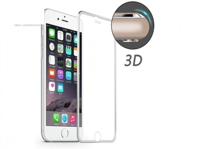 HAT PRINCE for iPhone 6s Plus/6 Plus 0.2mm 3D Curved Aluminum Alloy Tempered Glass Screen Film Protector - Silver