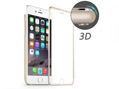 ИЗВИТ СТЪКЛЕН УДАРОУСТОЙЧИВ СКРИЙН ПРОТЕКТОР CURVED ЗА iPhone 6 Plus / 6s Plus HAT PRINCE 0.2mm - Gold