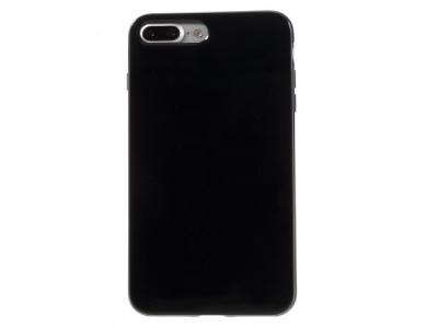 Glossy TPU Gel Back Силиконов Протектор за  iPhone 7 Plus / 8 Plus- Черен