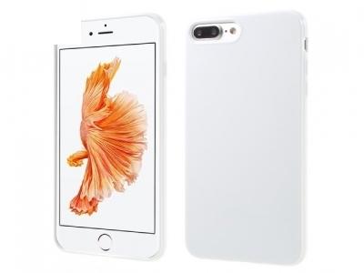 Glossy TPU Gel Back Силиконов Протектор за iPhone 7 Plus - Бял
