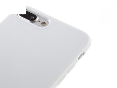 Glossy TPU Gel Back Силиконов Протектор за iPhone 7 Plus / 8 Plus - Бял