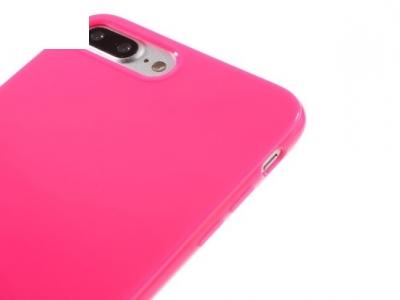 Glossy TPU Gel Back Shell Силиконов протектор за iPhoe 7 Plus / 8 Plus  - Розов