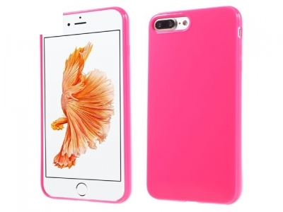 Glossy TPU Gel Back Shell Case for iPhone 7 Plus / 8 Plus - Rose