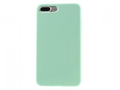 Glossy TPU Gel Back  Протектор за iPhone 7 Plus - Светло зелен