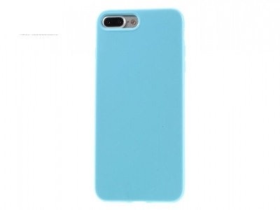 Glossy TPU Gel Back Protective Case for iPhone 7 Plus / 8 Plus- Baby Blue