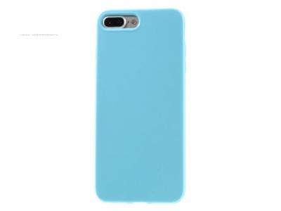 Ултра тънък силиконов протектор за iPhone 7 Plus - Небесно син