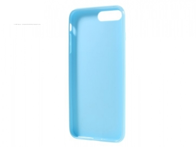 Ултра тънък силиконов протектор за iPhone 7 Plus / 8 Plus - Небесно син