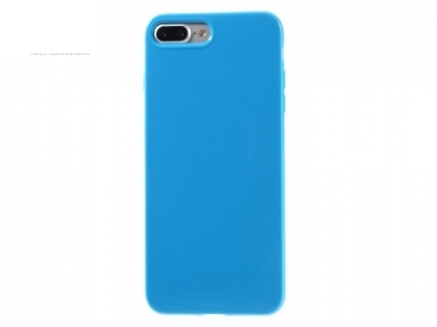 Glossy TPU Gel Back Protective Cover for iPhone 7 Plus / 8 Plus - Dark Blue