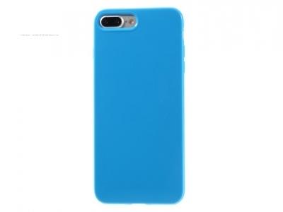 Ултра тънък силиконов протектор за iPhone 7 Plus - Тъмно син