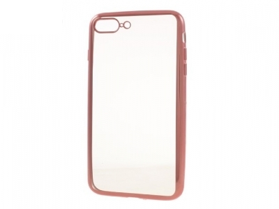 Electroplating TPU Clear Skin Cover for iPhone 7 Plus / 8 Plus - Rose Gold