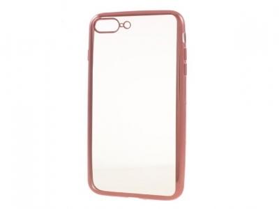 Ултра тънък  силиконов протектор за iPhone 7 Plus 5.5 Inch - Розово злато
