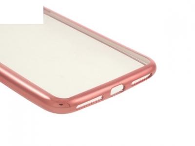 Ултра тънък  силиконов протектор за iPhone 7 Plus / 8 Plus - Розово злато